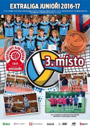 3. místo - extraliga juniorů 2016 / 2017