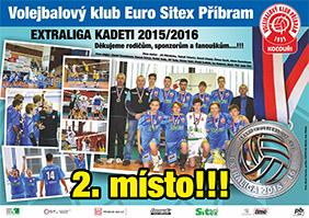 2. místo - extraliga kadetů 2015 / 2016
