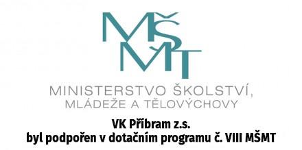 VK Příbram z.s. byl podpořen v dotačním programu č. VIII MŠMT